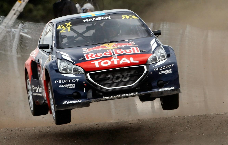 Photo wallpaper Jump, Peugeot, Peugeot, 208, WorldRX, Timmy Hansen