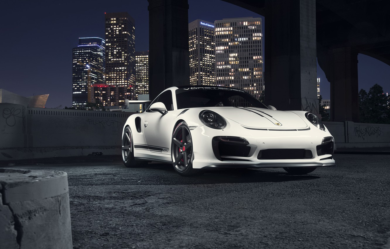 Photo wallpaper 911, Porsche, Front, Vorsteiner, White, Turbo, Edition, V-RT
