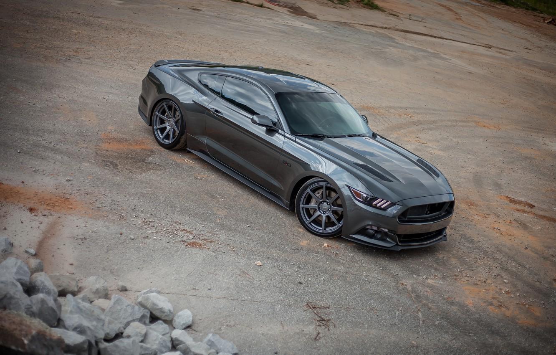 Photo wallpaper Mustang, Ford, Wheels, Velgen