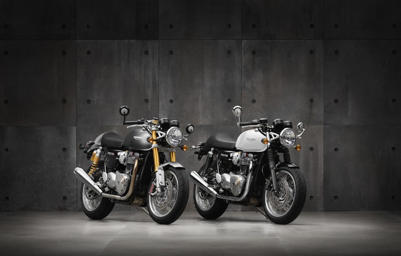 Photo wallpaper motorcycle, triumph, truxton 2016
