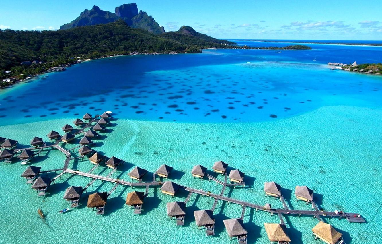 Wallpaper Resort French Polynesia Bora Bora Tahiti Water