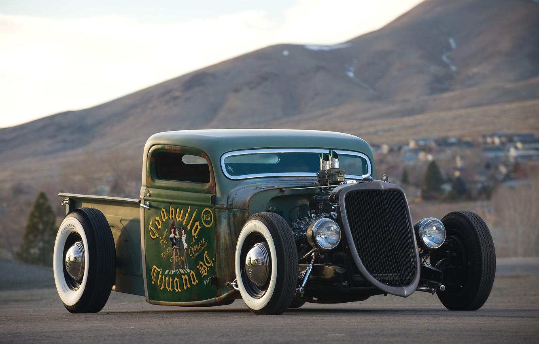 Photo wallpaper car, retro, Hotrod