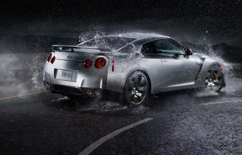 Photo wallpaper Water, Nissan, GTR