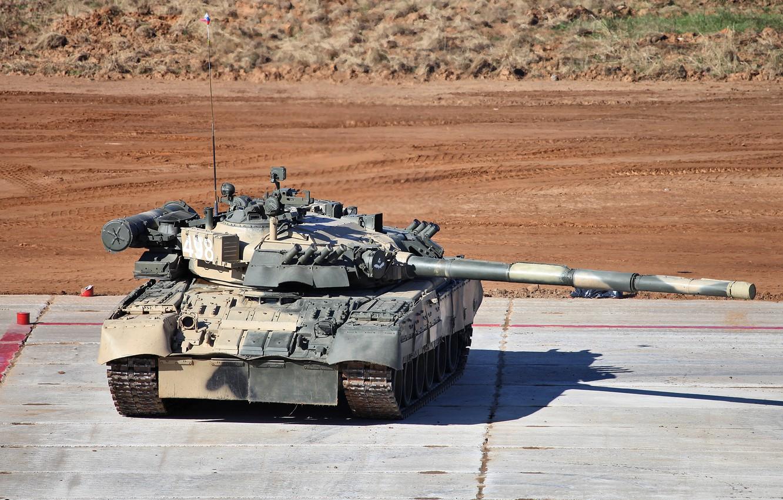Photo wallpaper beauty, tank, gun, biathlon, caterpillar, t-80U, tank