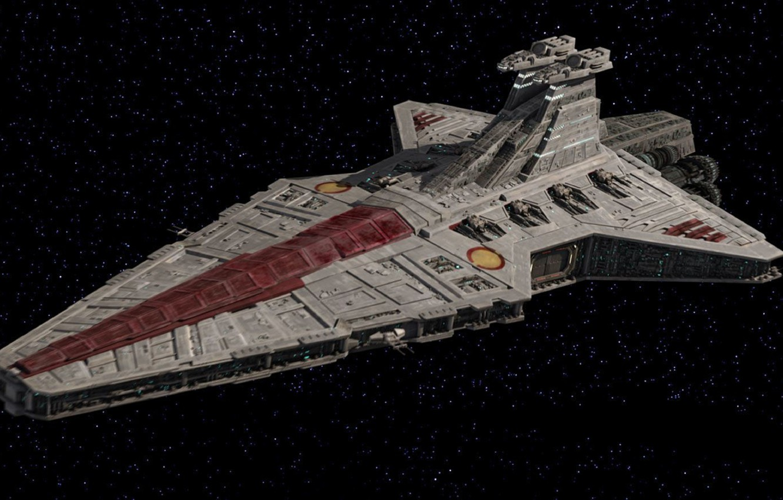 Photo wallpaper Star Wars, Venator, class, Star destroyer, Star destroyer, type Venator, Grand army of the Republic