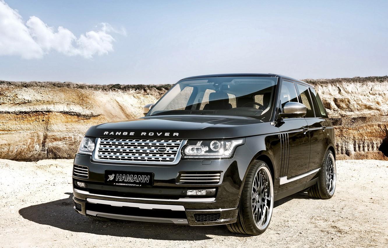 Photo wallpaper Land Rover, Range Rover, Hamann, Black, range Rover, Vogue