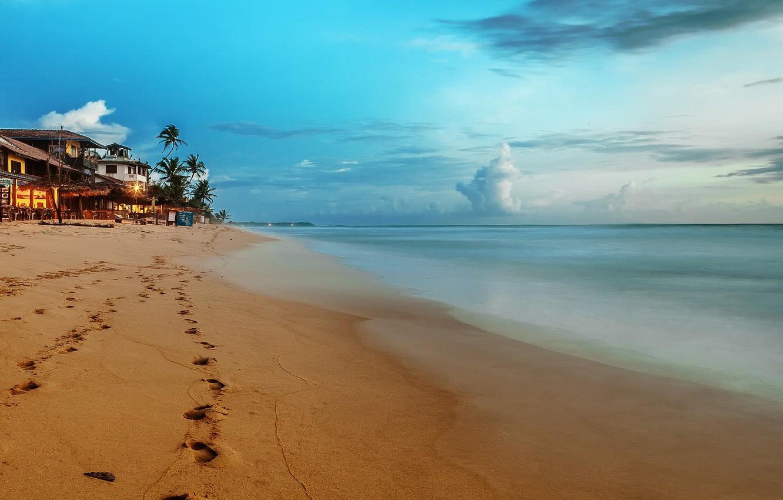 Photo wallpaper sea, beach, the sky, clouds, landscape, nature