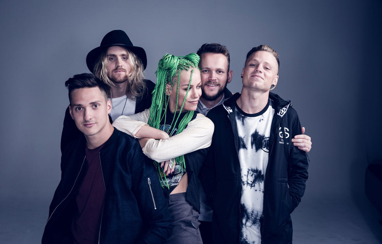 Photo wallpaper Pop Punk, Jenna Mcdougall On, Tonight Alive, Jenna McDougall, Matt Best, She, Jake Hardy, Cam …