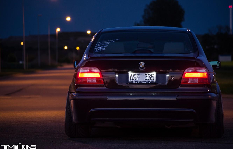 Photo wallpaper BMW, E39, STANCE