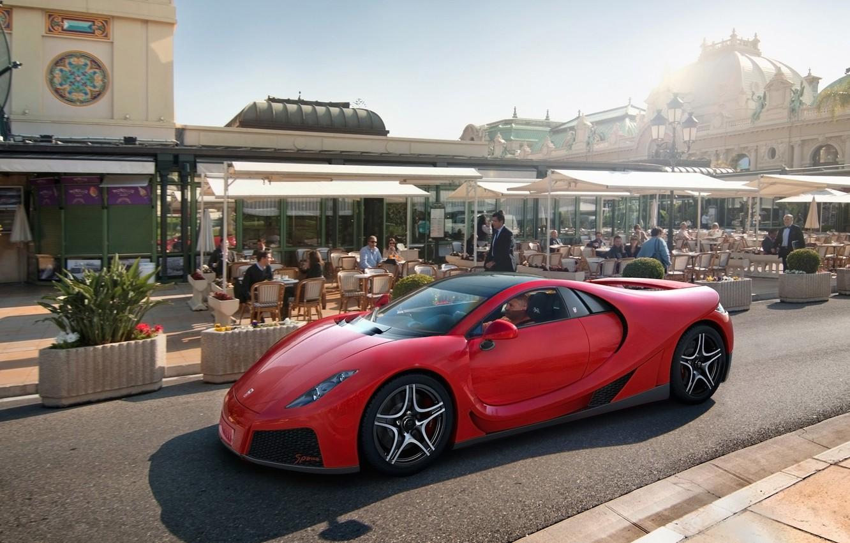 Photo wallpaper red, Monte Carlo, Spania, GTA Spano