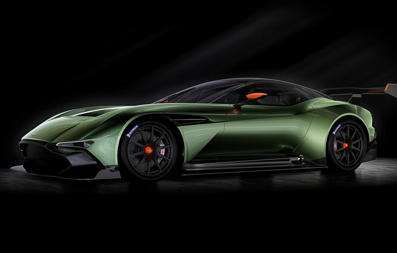 Photo wallpaper green, Aston Martin, the volcano, Aston Martin, 2015, Vulcan