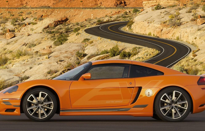 Photo wallpaper road, coupe, Dodge, EV, cuircuit