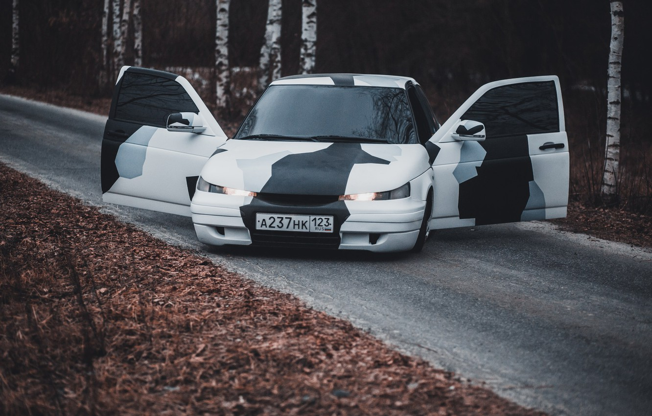 Photo wallpaper Tuning, Lada, Coupe, Lada, 2112, Tuning, VAZ, stance, Coupe, Vaz
