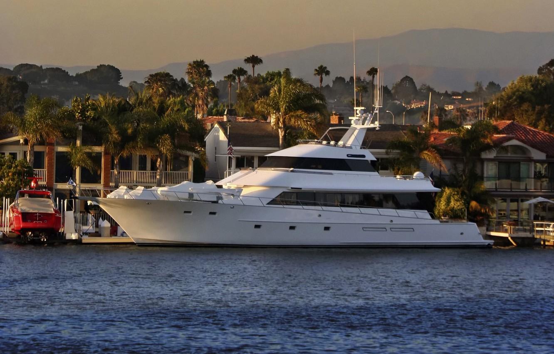 Photo wallpaper sea, stay, yacht