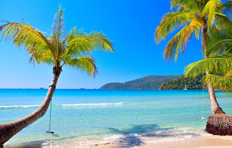 Photo wallpaper sand, sea, beach, the sun, tropics, the ocean, shore, island, summer, beach, sea, ocean, coast, …