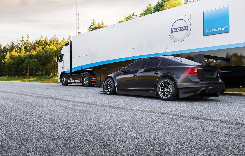 Photo wallpaper Volvo, Volvo, Black, S60, Back, WTCC, Tracs