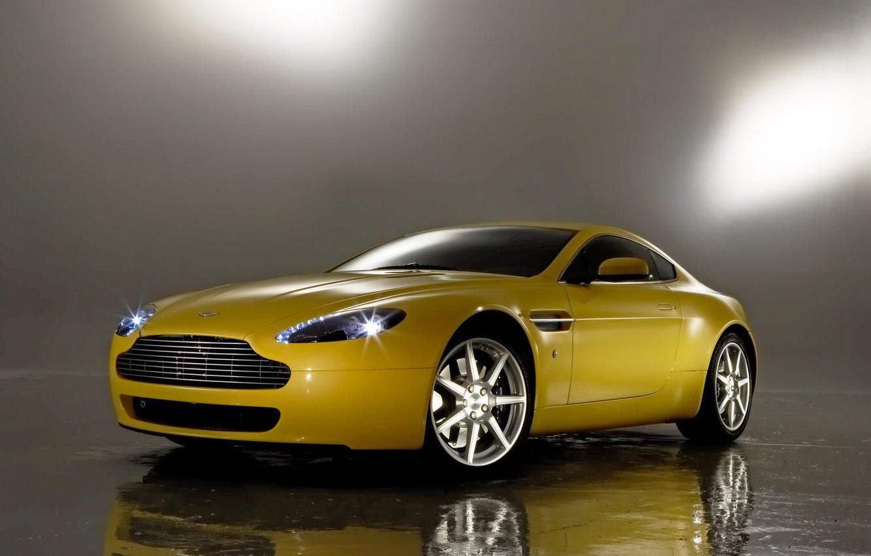 Photo wallpaper auto, reflection, Aston Martin, Vantage