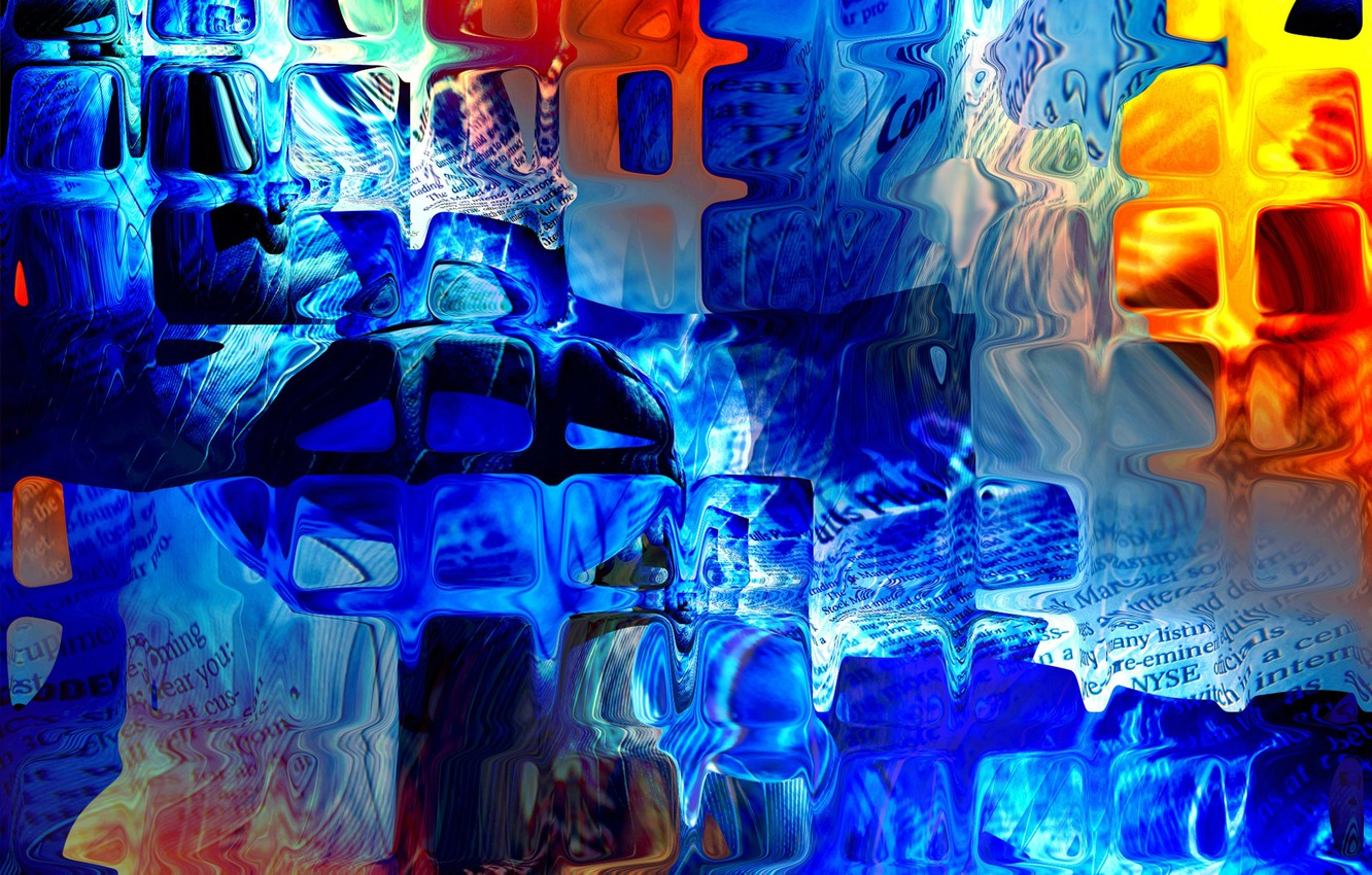 Photo wallpaper color, abstraction, glass