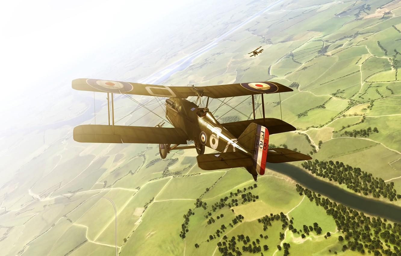 Photo wallpaper flight, the plane, rise of flight