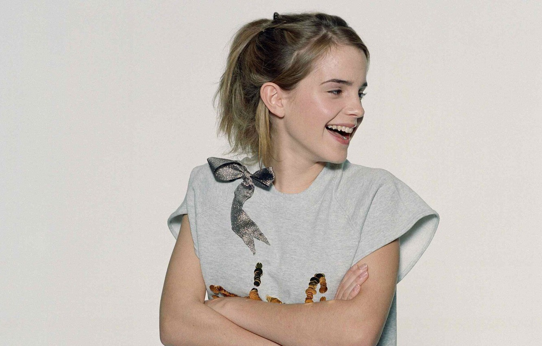 Photo wallpaper laughter, actress, Emma Watson, EMMA WATSON