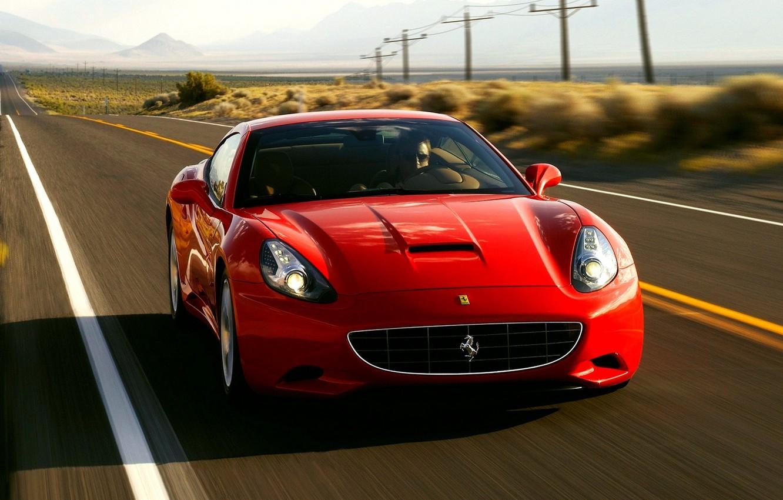 Photo wallpaper car, machine, speed, red, california, ferrari, car, Ferrari, auto, convertible, CA, wallpapers, speed, rides, Krsna