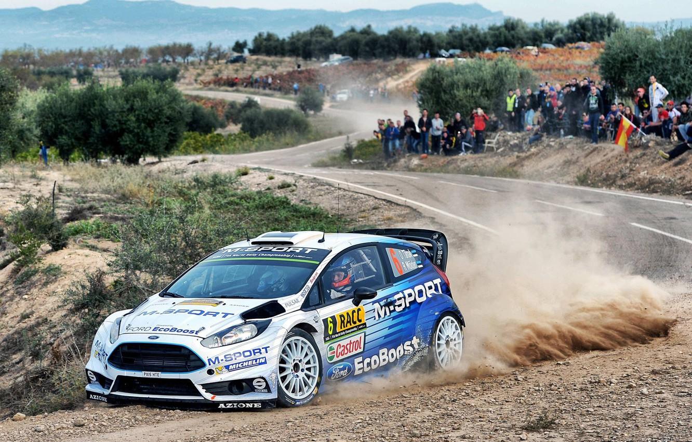 Photo wallpaper Ford, Dust, WRC, Fiesta, There Miss