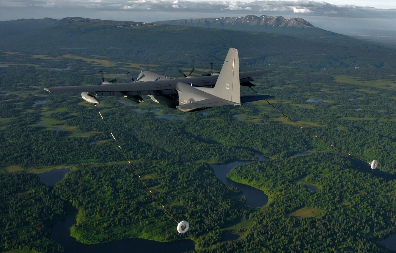 Photo wallpaper flight, the plane, military transport, Lockheed Martin, C-130