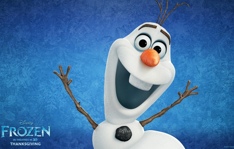 Photo wallpaper Frozen, Walt Disney, 2013, Cold Heart, Animation Studios, olaf