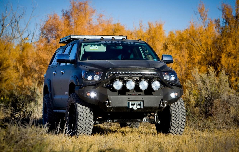 Photo wallpaper autumn, nature, Toyota, Tuning, Tundra, Offroad, DEVOLRO