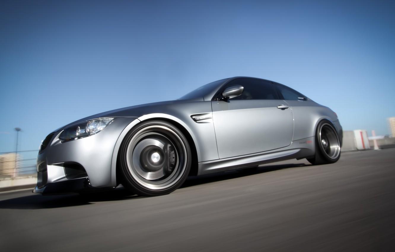 Photo wallpaper grey, coupe, speed, blur, BMW