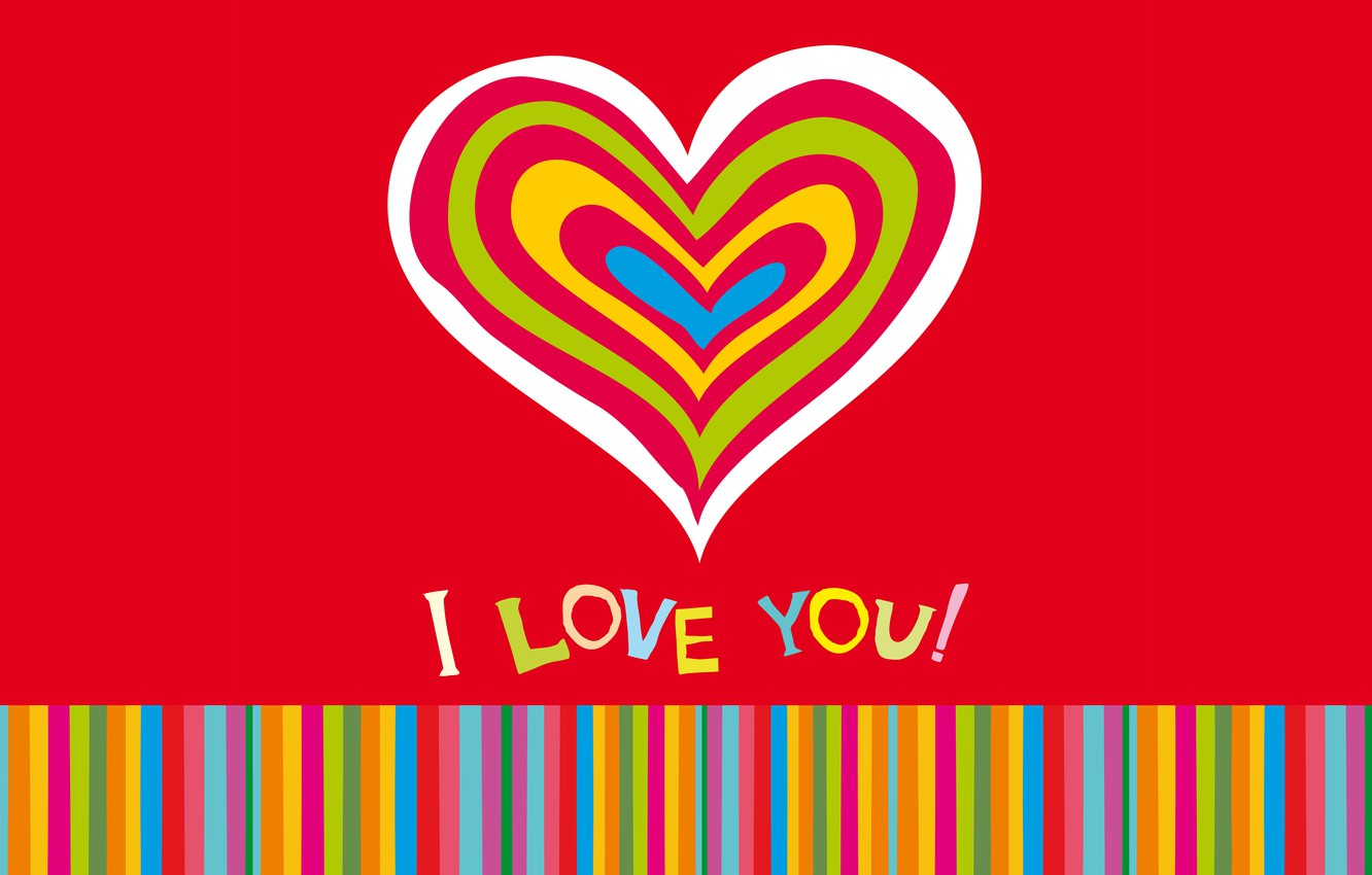 Photo wallpaper love, colorful, hearts, love, I love you, background, romantic, hearts, sweet