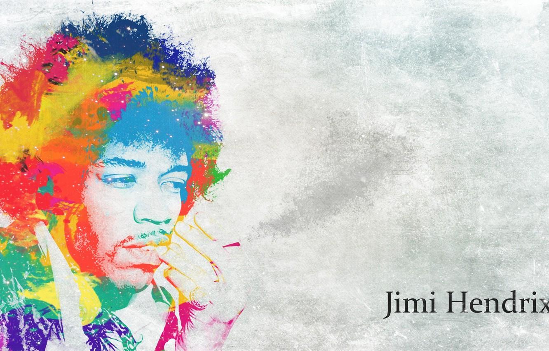 Photo wallpaper style, guitarist, singer, composer, psychedelic, Jimi Hendrix, iridescence, Jimi Hendrix