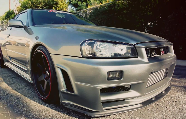 Photo wallpaper silver, Nissan, GT-R, Skyline, SP Engineering, GT-R34