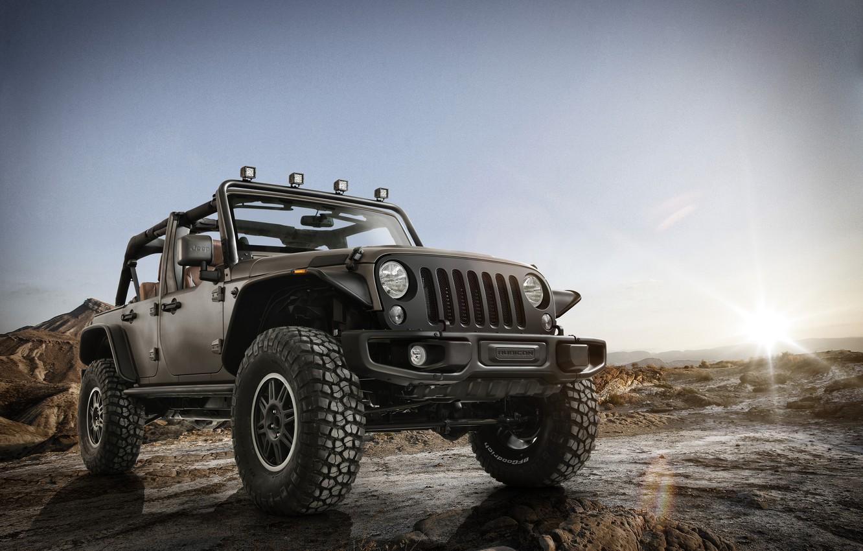 Photo wallpaper Stealth, Wrangler, Jeep, 2014, Unlimited Rubicon