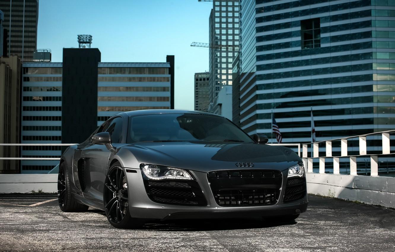Photo wallpaper Audi, City, wheels, V10, ADV1, R8