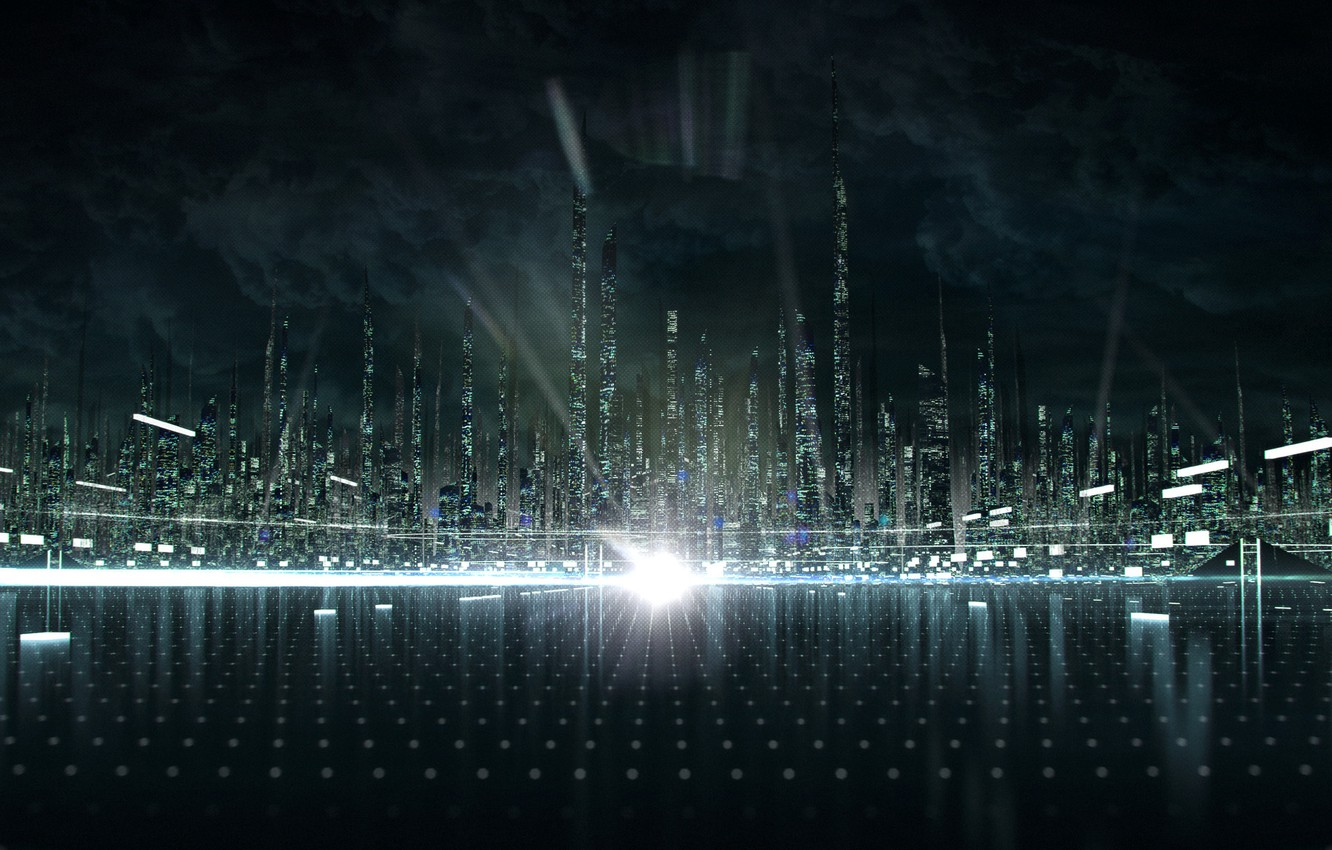 Photo wallpaper the city, the throne, heritage, TRON
