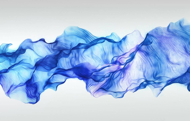 Photo wallpaper wave, minimalism, scarf, veil, scarf, veil