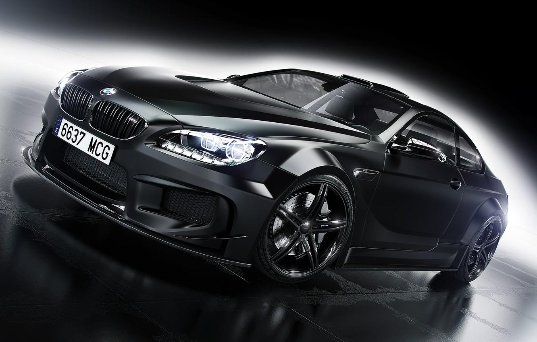 Photo wallpaper BMW, Car, Front, Black, Prior Design, Wheels