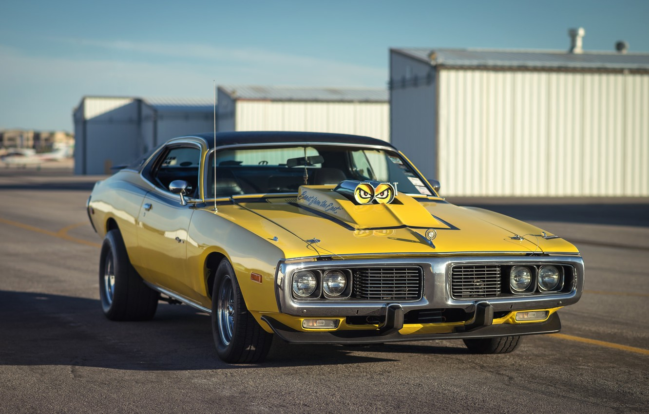 Photo wallpaper retro, muscle car, classic, the front