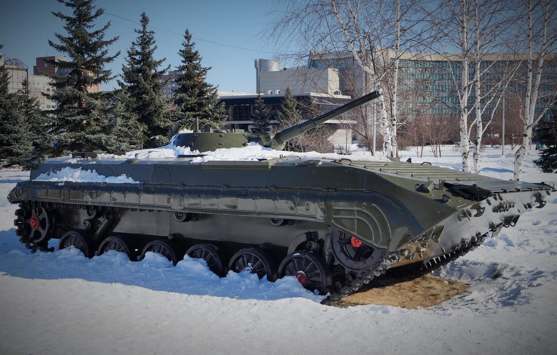Photo wallpaper Combat, Machine, Infantry-1, BMP-1