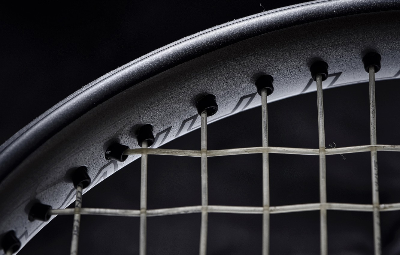Photo wallpaper texture, black background, Tennis