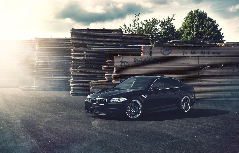 Photo wallpaper Board, BMW, BMW, black, black, Blik, F10, Fernandez World Photography