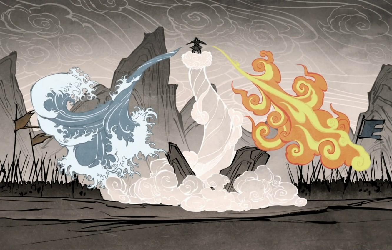 Photo wallpaper water, fire, earth, element, magic, the air, battle, avatar, avatar, The Legend of Korra, Avatar: …