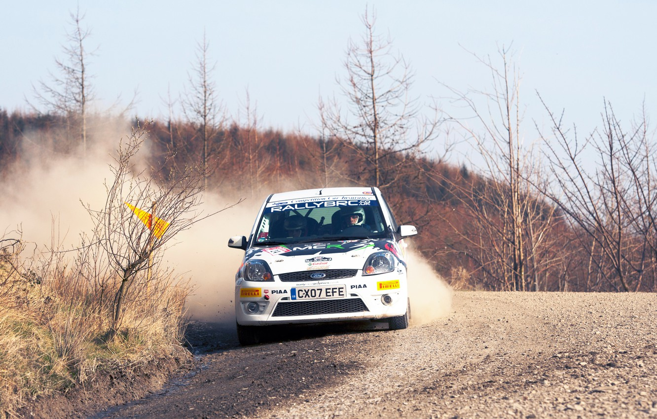 Photo wallpaper Ford, Auto, White, Sport, Machine, Turn, Race, Skid, Focus, WRC, Rally, Rally, Focus, The front