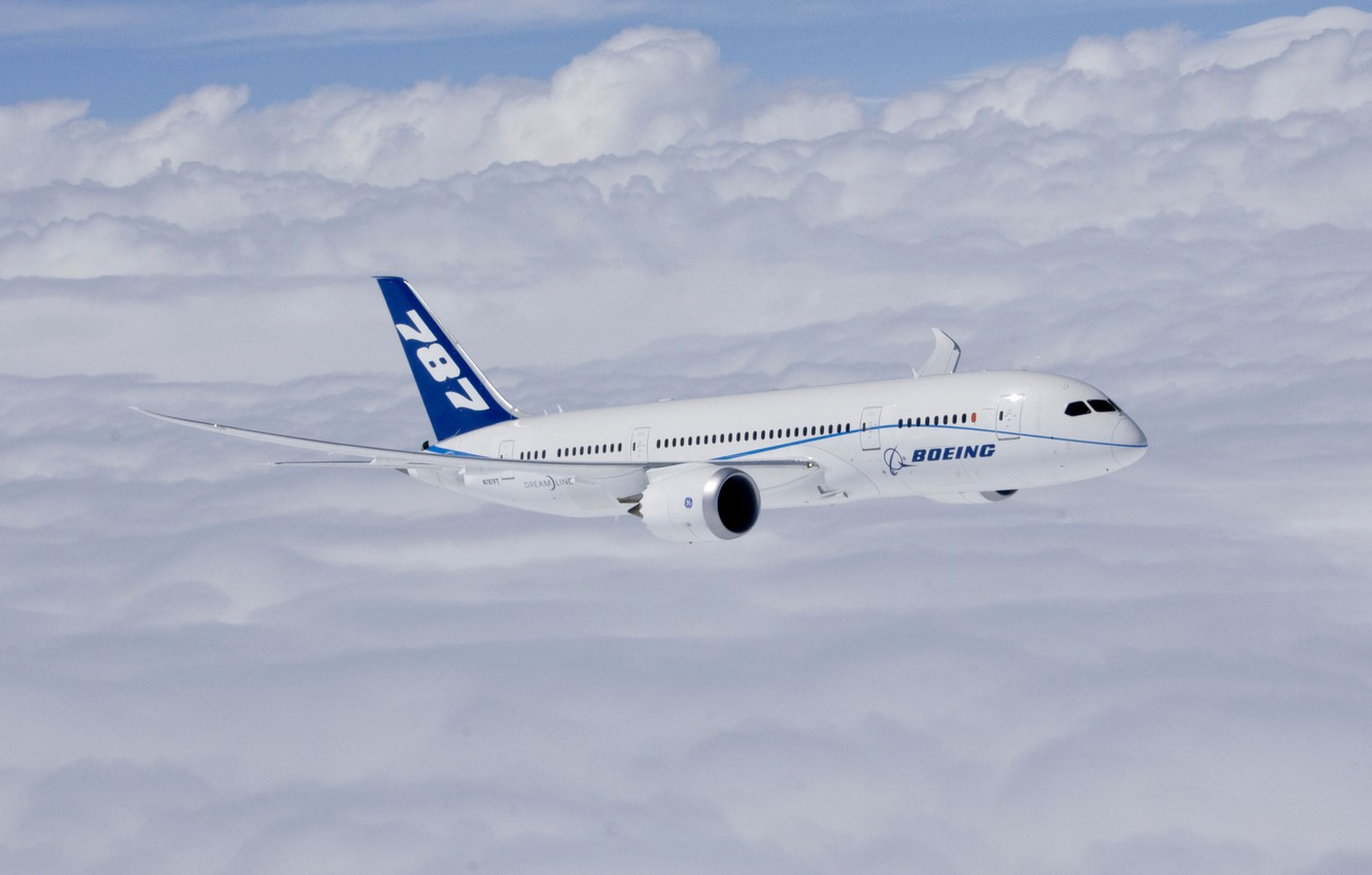 Wallpaper Boeing Completes First Flight Of First 787
