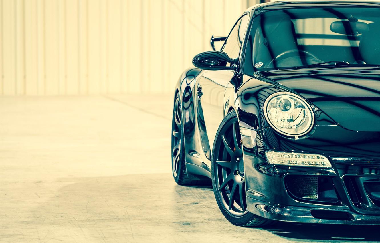 Photo wallpaper car, 911, turbo, supercar, porsche, Porsche, black