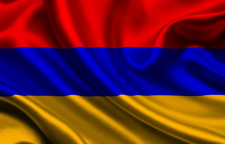 Photo wallpaper Red, Blue, Flag, Orange, Texture, Armenia, Flag, Armenia, Republic of Armenia, The Republic Of Armenia