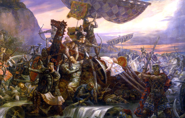 Photo wallpaper picture, artist, battle, Klimenko, Svyatoslav, Last, Andrew