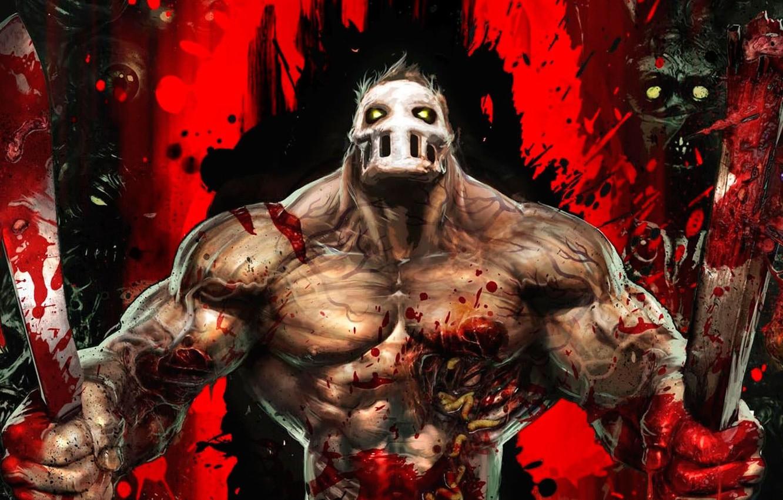 Photo wallpaper blood, gore, male, ready, rick