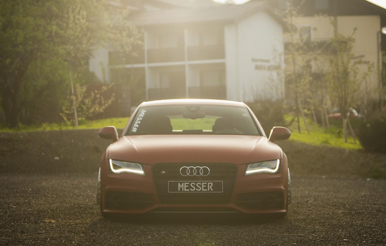 Photo wallpaper Audi, stance, messer